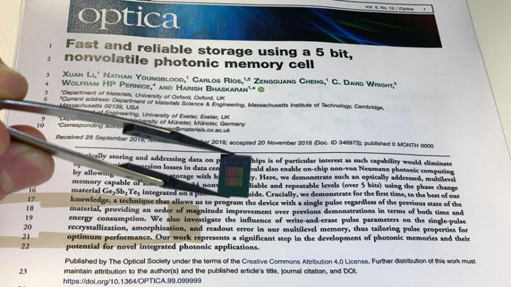 Новая оптическая ячейка памяти обеспечивает рекордную плотность хранения данных