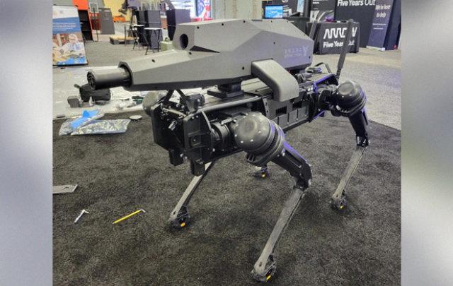 Четвероногий робот получил снайперскую винтовку и тепловизор