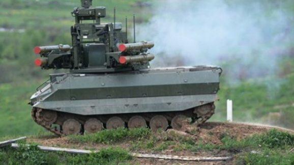 Для Сухопутных войск ведутся разработки перспективных робототехнических комплексов тяжелого и среднего класса